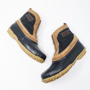 Sorel Zip Front Ankle Fleece Rubber Duck Boots